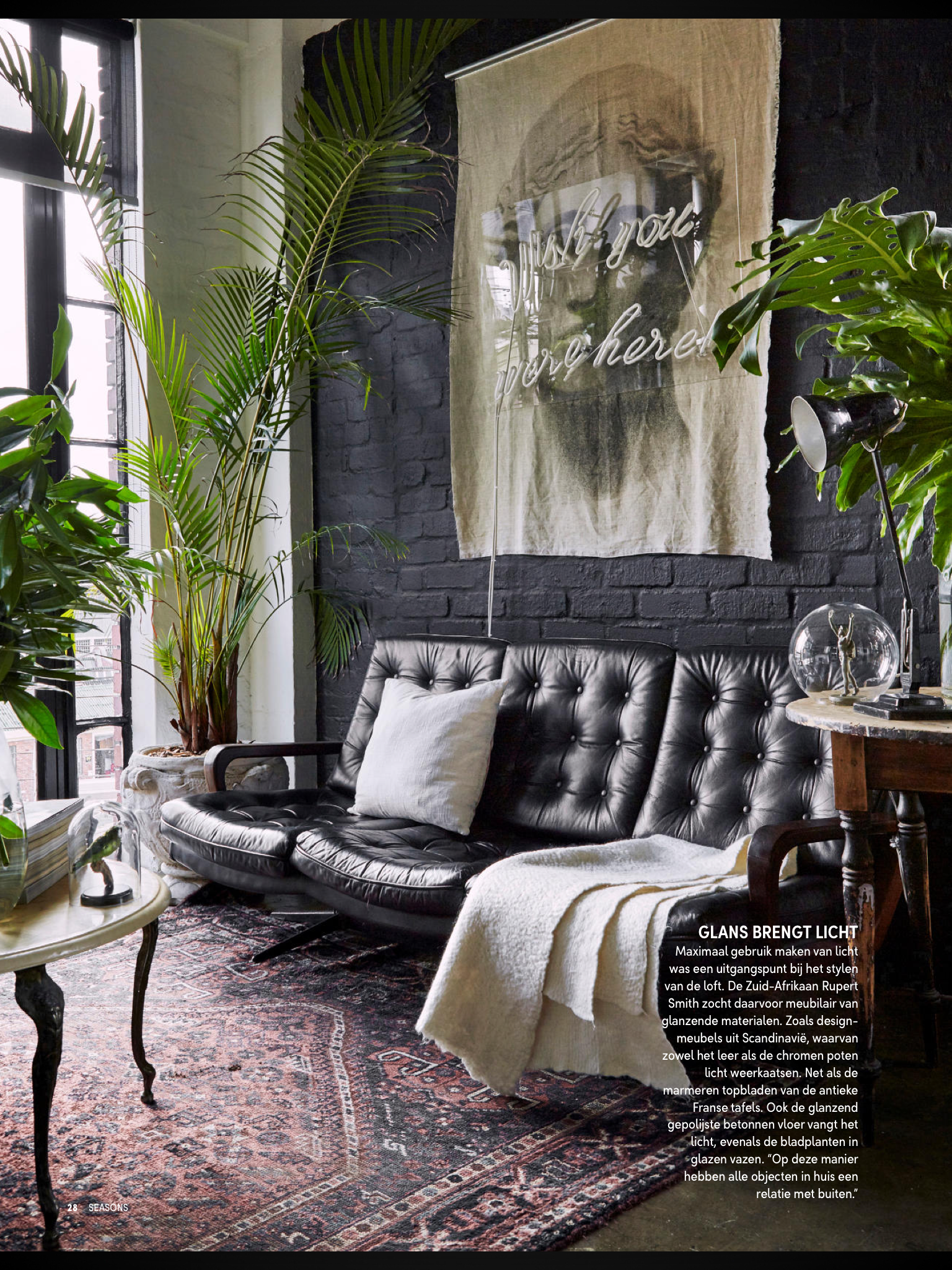 Pinterest Kjerstynjordheim Elle Decor Dark Interiors Black Leather Sofas