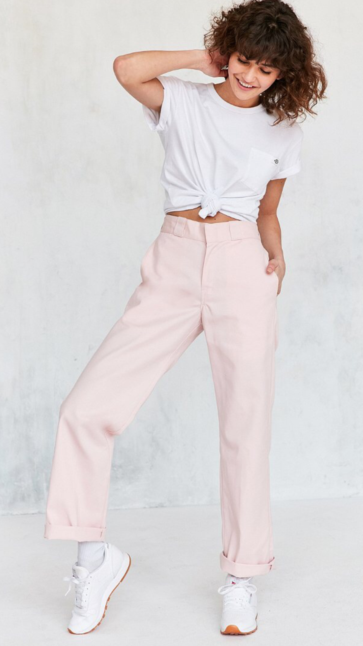 79760605e Pin by Andrea duarte on UO in 2019 | Pink trousers, Dickies pants ...