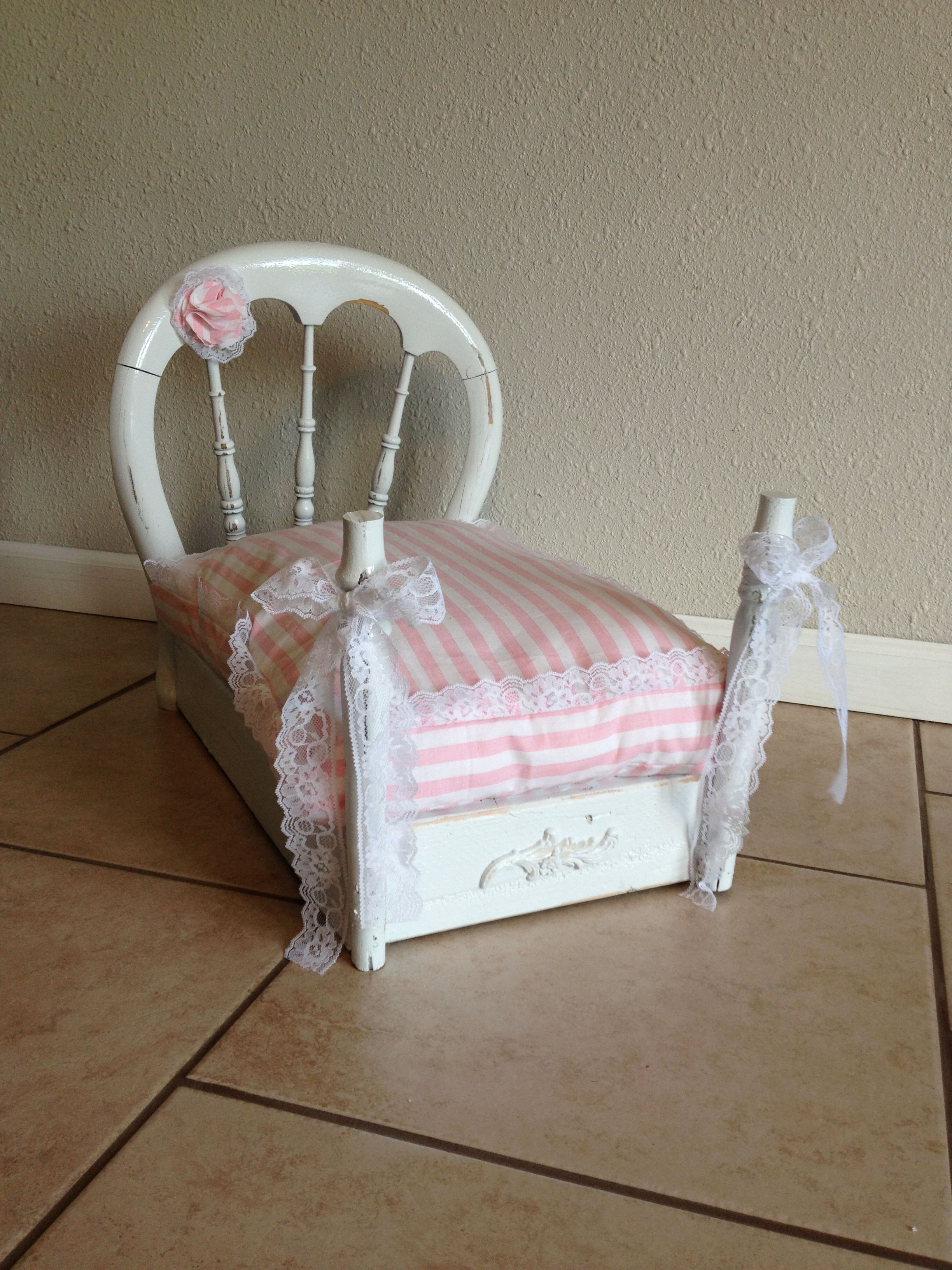 Old Chair From The 1800u0027s Converted Into A Shabby Chic Doggie Bed. Doggie BedsDiy  Dog ...