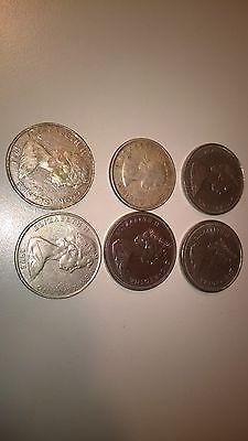 Kanada Dollar Silberdollar Silbermünzen Neuseeland 6 Münzen