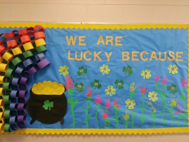 march bulletin board themes Lucky Coin instead of flowers