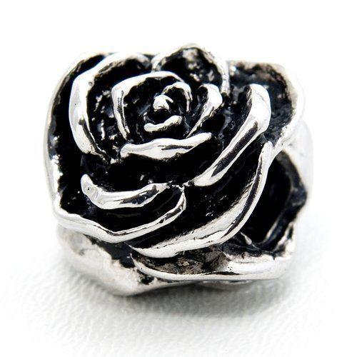 1 Bead - Großloch Perle   nickelfrei+bleifreiSilber Element für ModularmbandLieferumfang : 1 Bead - Blüte - Rose  Modell : Silber Bead mit GewindeLochdurchmesser : ca. 4,5 mm Farben : silber Marke Elemento