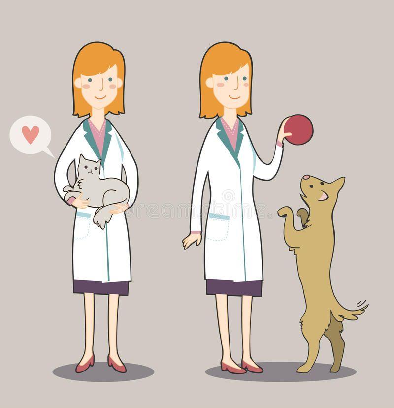 Cartoon Veterinarian Veterinarian Cartoon Cute Cartoon