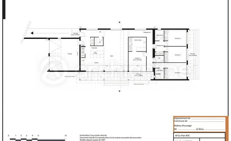 Maison Anouck - Plan de maison Traditionnelle par Archionline