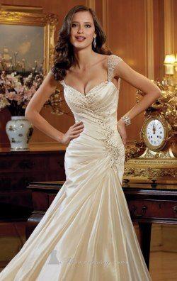 Beaded Sweetheart Taffeta Tulle Gown by Sophia Tolli Y11412