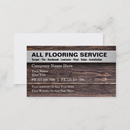 Flooring Services Wood Look Art Background Business Card Zazzle Com In 2021 Cleaning Business Cards Personalized Candle Labels Custom Holiday Card
