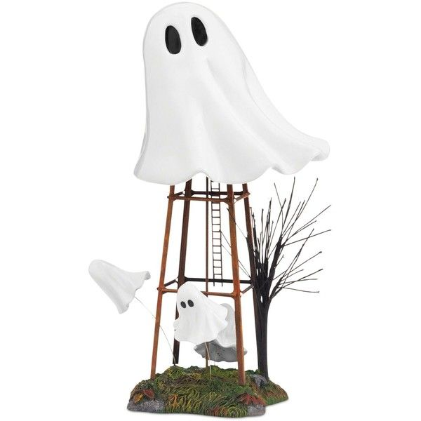 Department 56 Halloween Village Haunted Water Tower Collectible... ($37) ❤ liked on Polyvore