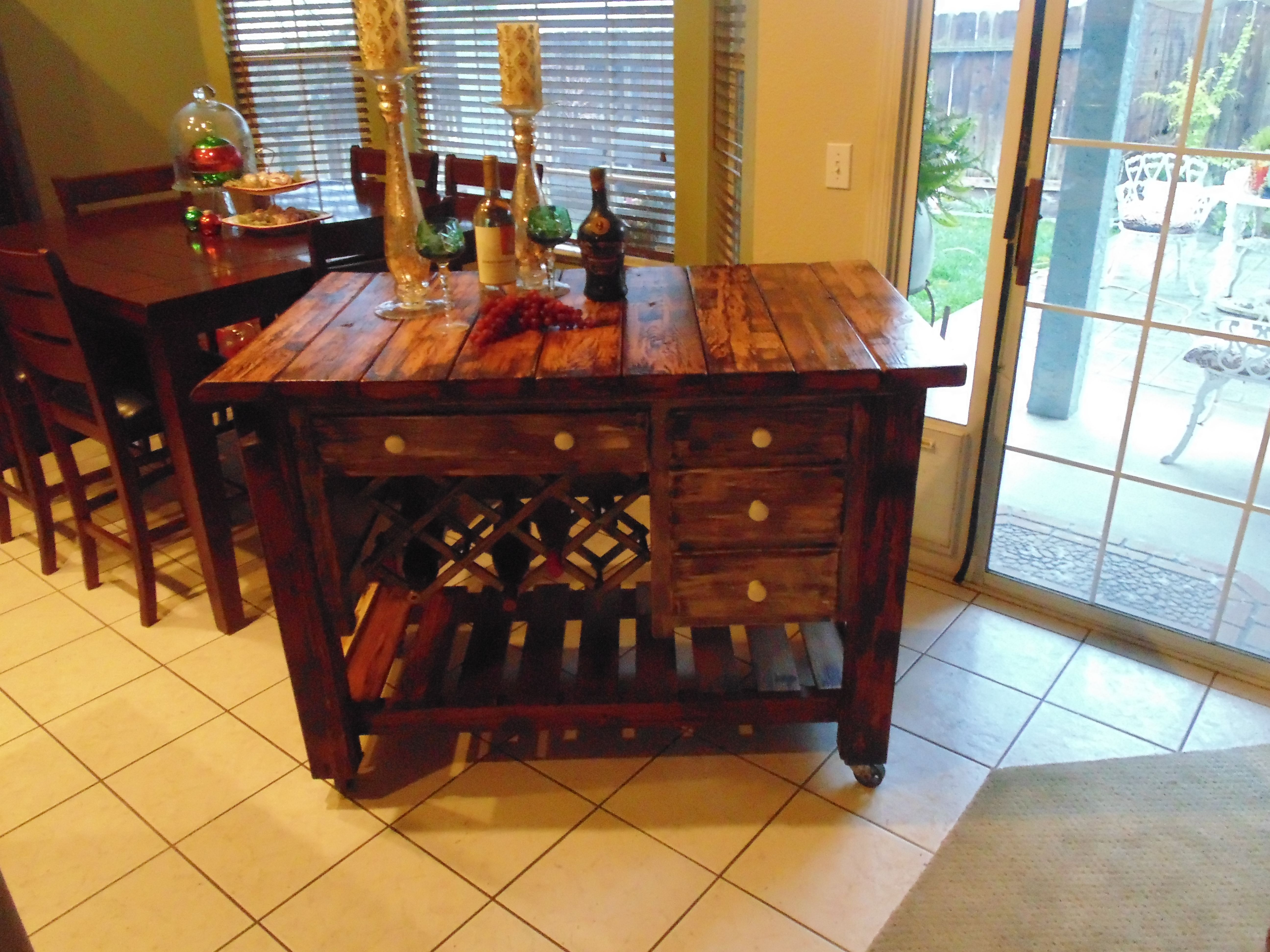 Old school desk turned in to wine table webberus old to gold