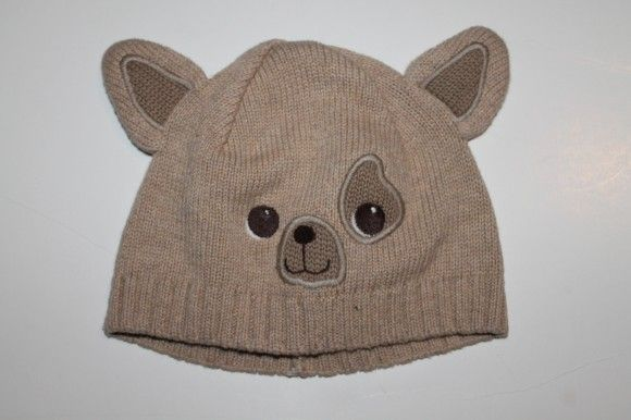 Knit puppy hat, 3-6 months