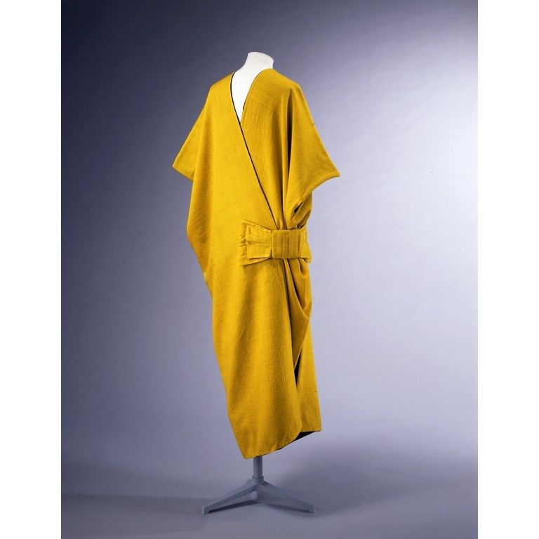 Yellow and black wool mantle at the Victoria and Albert Museum in London. It's by French designer, Paul Poiret.