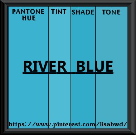 Pantone Seasonal Color Swatch River Blue