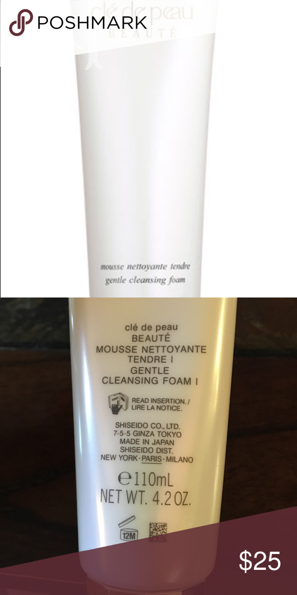 Cle' de peau Beaute' gentle cleansing foam Cle' de peau Beaute' gentle cleansing foam. 4.2 OZ Other