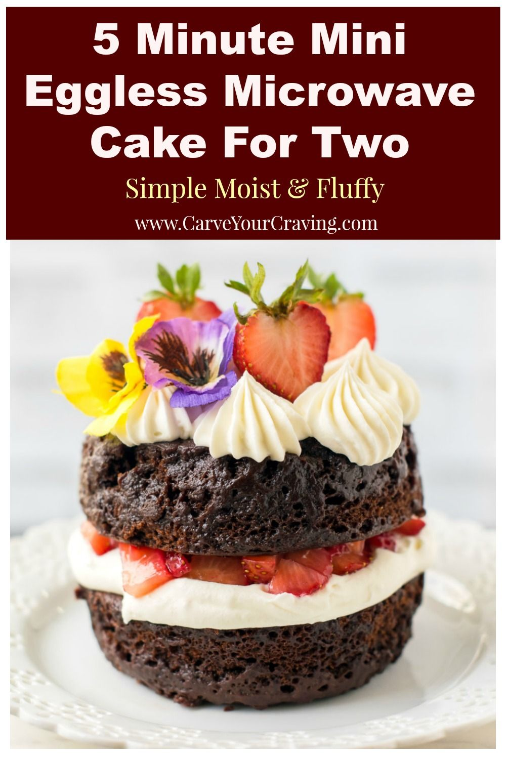 Make A Small Batch Moist And Fluffy Cake In A Microwave For 2