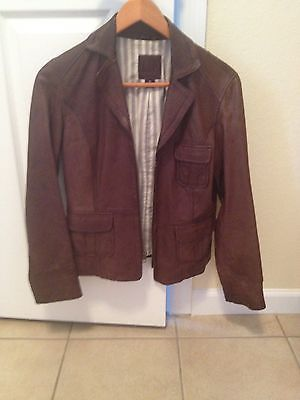 Gap Women's Brown Leather Jacket