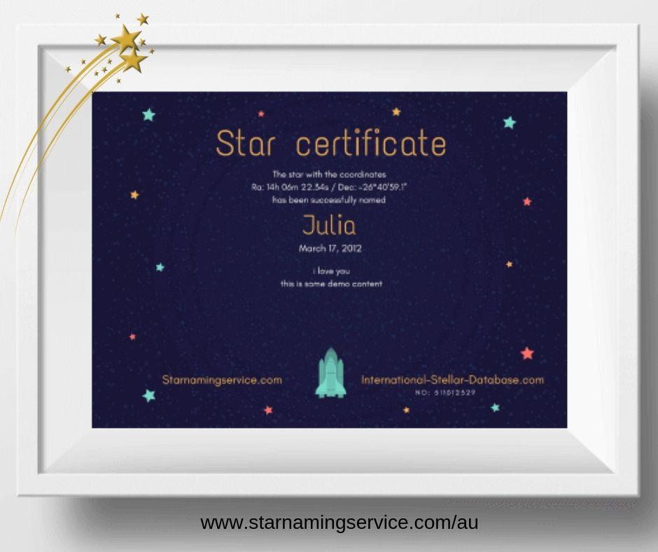 Buy Name A Star Australia 1 Gift Interstellarium Star Gift Gifts Stars