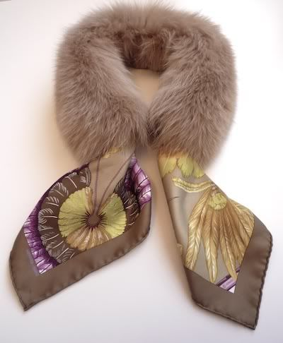 MaiTai Collection: Caramel Fur Collar. Just so happened I just found a fur collar at my junk store .