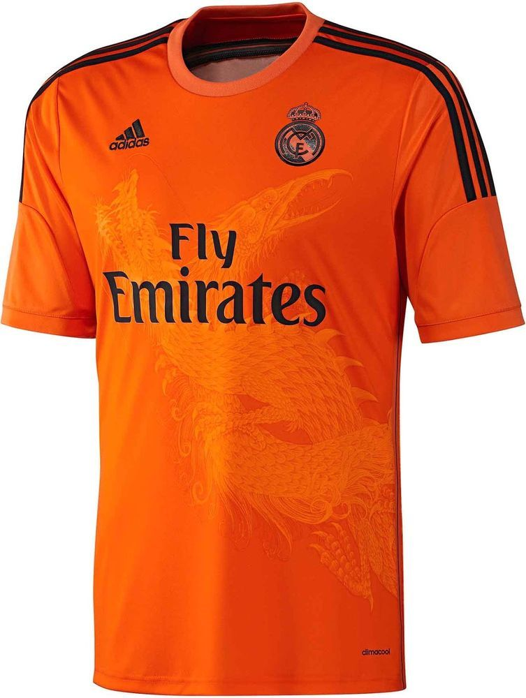 ab379c3a8 Adidas Real Madrid Tshirt jersey Orange Goalkeeper Bargain