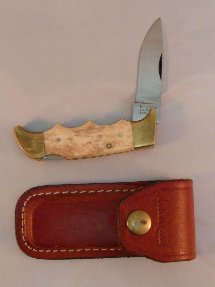 Kershaw 1040 Folding Knife Field Knife Appaloosa Bone