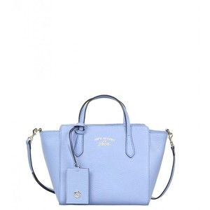 Gucci Blue Leather Swing Mini Top Handle Bag