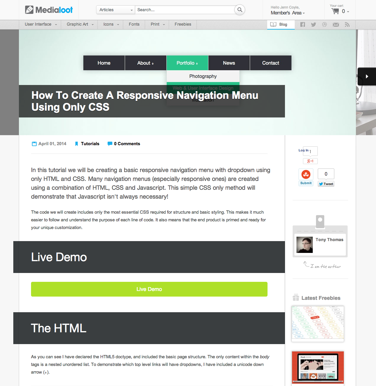 New tutorial on Medialoot How to create a responsive