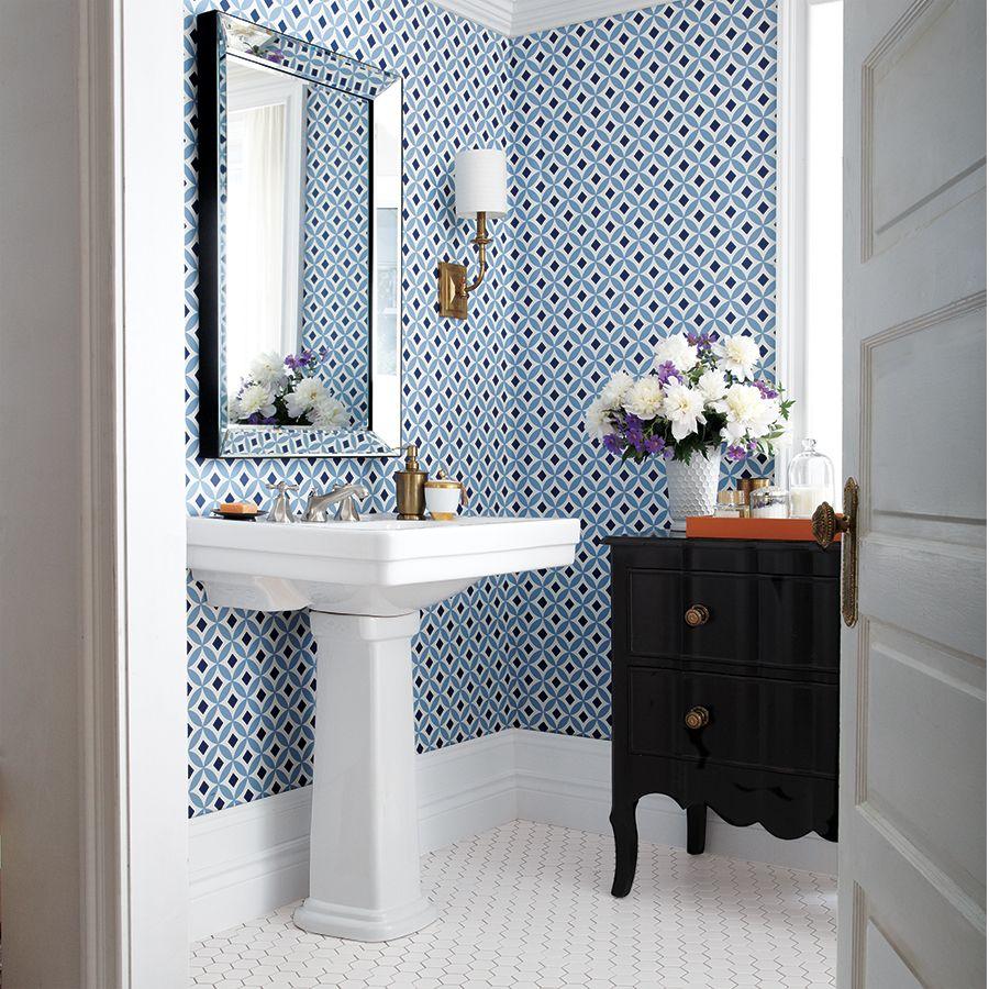 Bathroom Wallpaper 4 Looks We Love Canadian Living New Bathroom Wallpaper Bathroom Wallpaper New House Bathroom