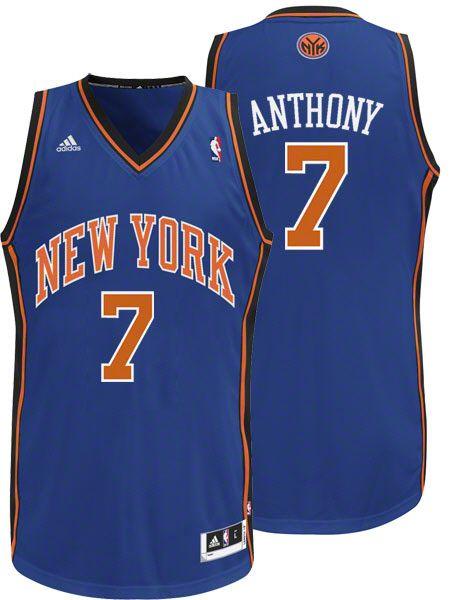 New York Knicks  7 Carmelo Anthony Swingman Blue Jersey US 20 ... 7090abd5e