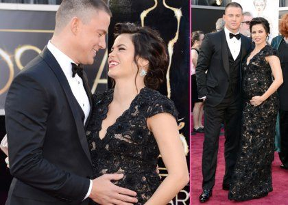 Channing Tatum & Jenna Dewan-Tatum Bring Baby Bump to the 2013 Oscars | Celebrity-gossip.net