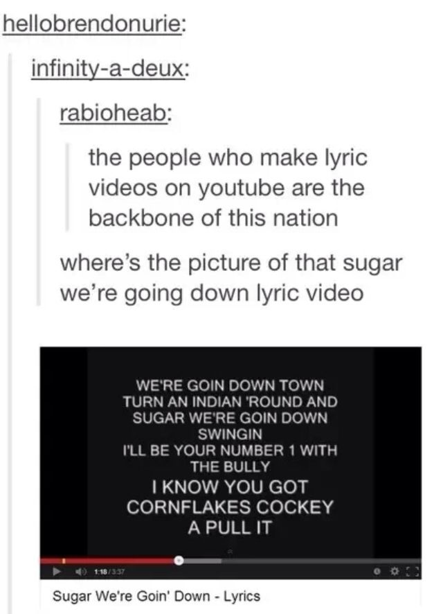 Boy by down fall going lyric sugar swinging were