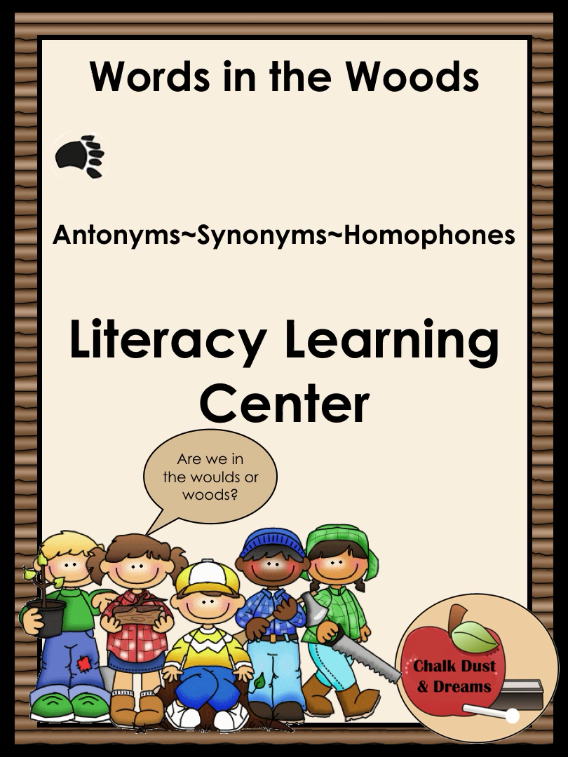 Literacy Center For Synonyms Antonyms Homophones Video Video In 2020 With Videos Words Teacher Lesson Plans Homophones