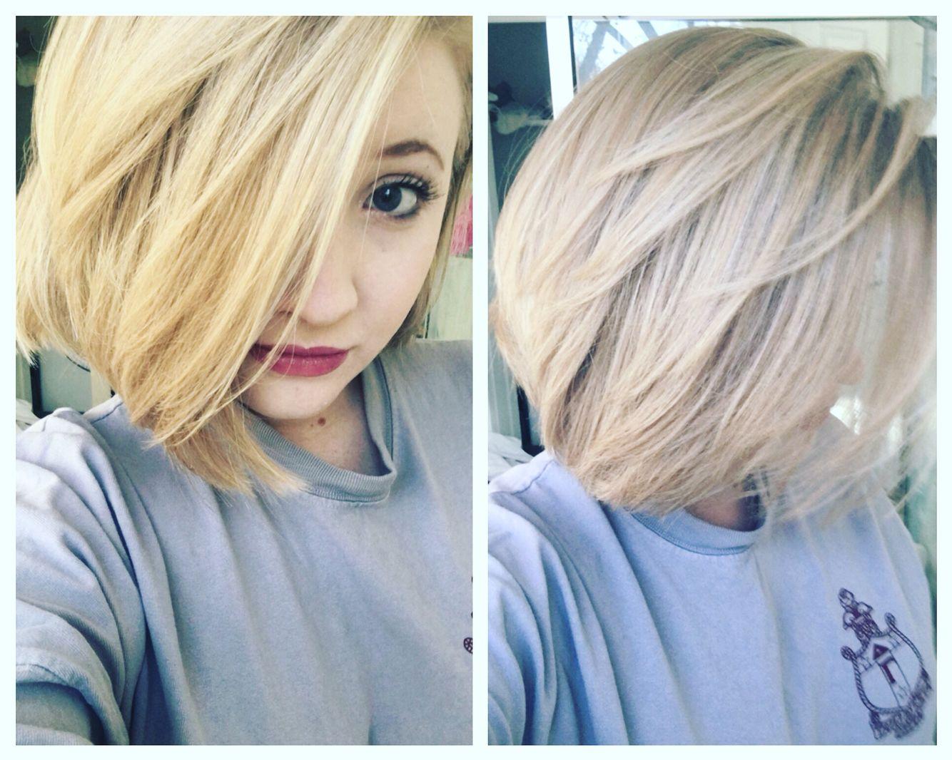 Short blonde bob