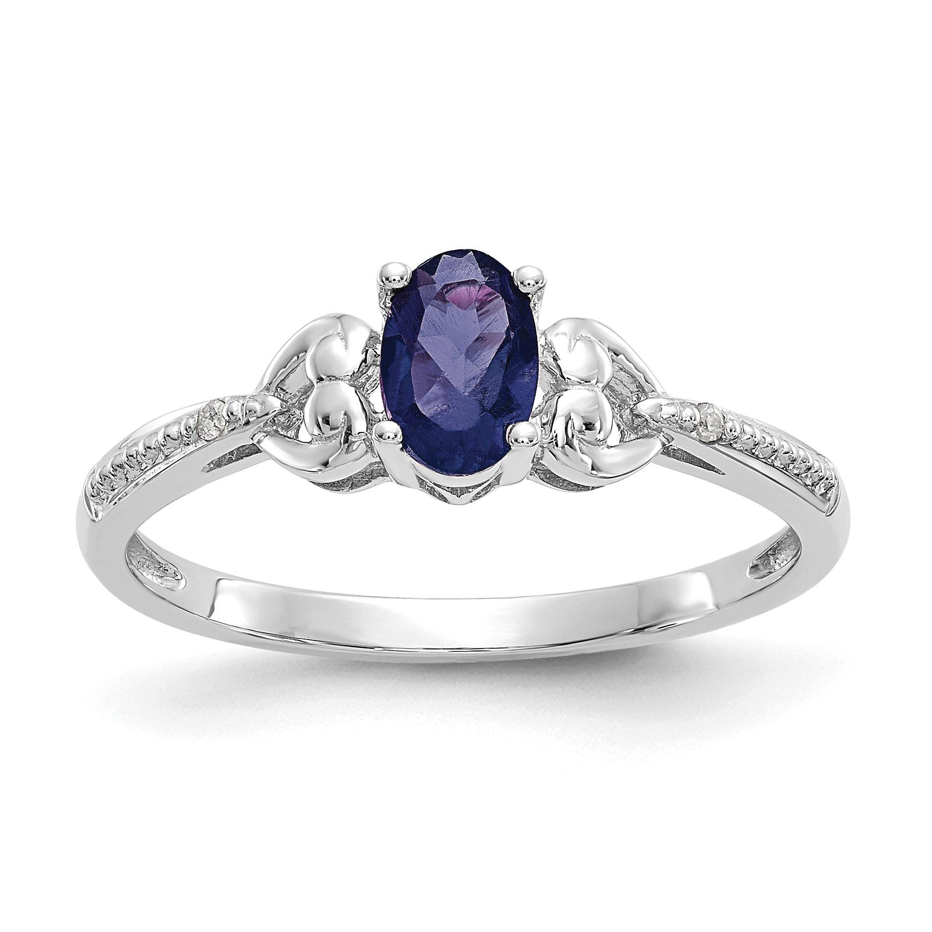 x white sapphire gold rings window a by flanked single light set pre dark ring stone owned claw two showing through the engagement dress blue with jewellery oval cut