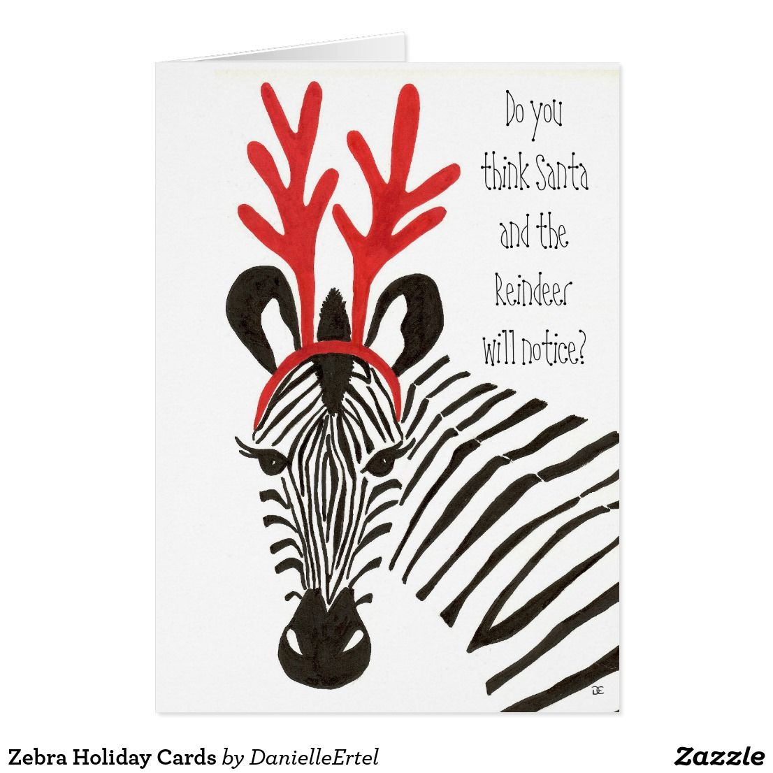 Zebra Holiday Cards Zazzle Com Pet Holiday Cards Seasons
