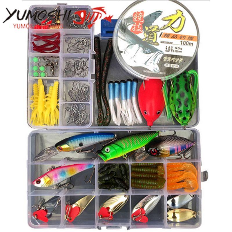 ENJOY® Fishing Lures Set Soft Fishing Accessories Hooks De Pesca Hard Baits Kit