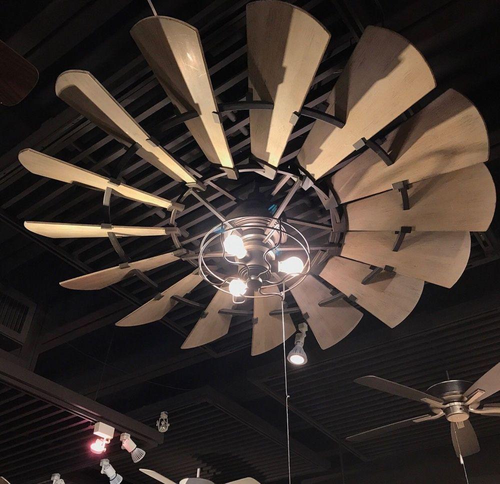 Windmill 52 Ceiling Fan Oil Rubbed Bronze Rustic French Farmhouse New In Box 190808102492 Ebay Ceiling Fan Windmill Ceiling Fan Bronze Ceiling Fan