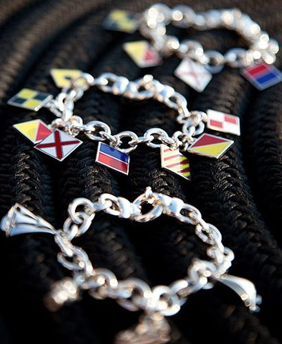obsessed with the signal flag charm bracelets at style newport