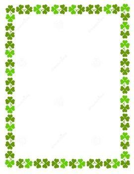 Shamrock Border Stationary Blank Borders For Paper Clip Art Borders Flower Stationary