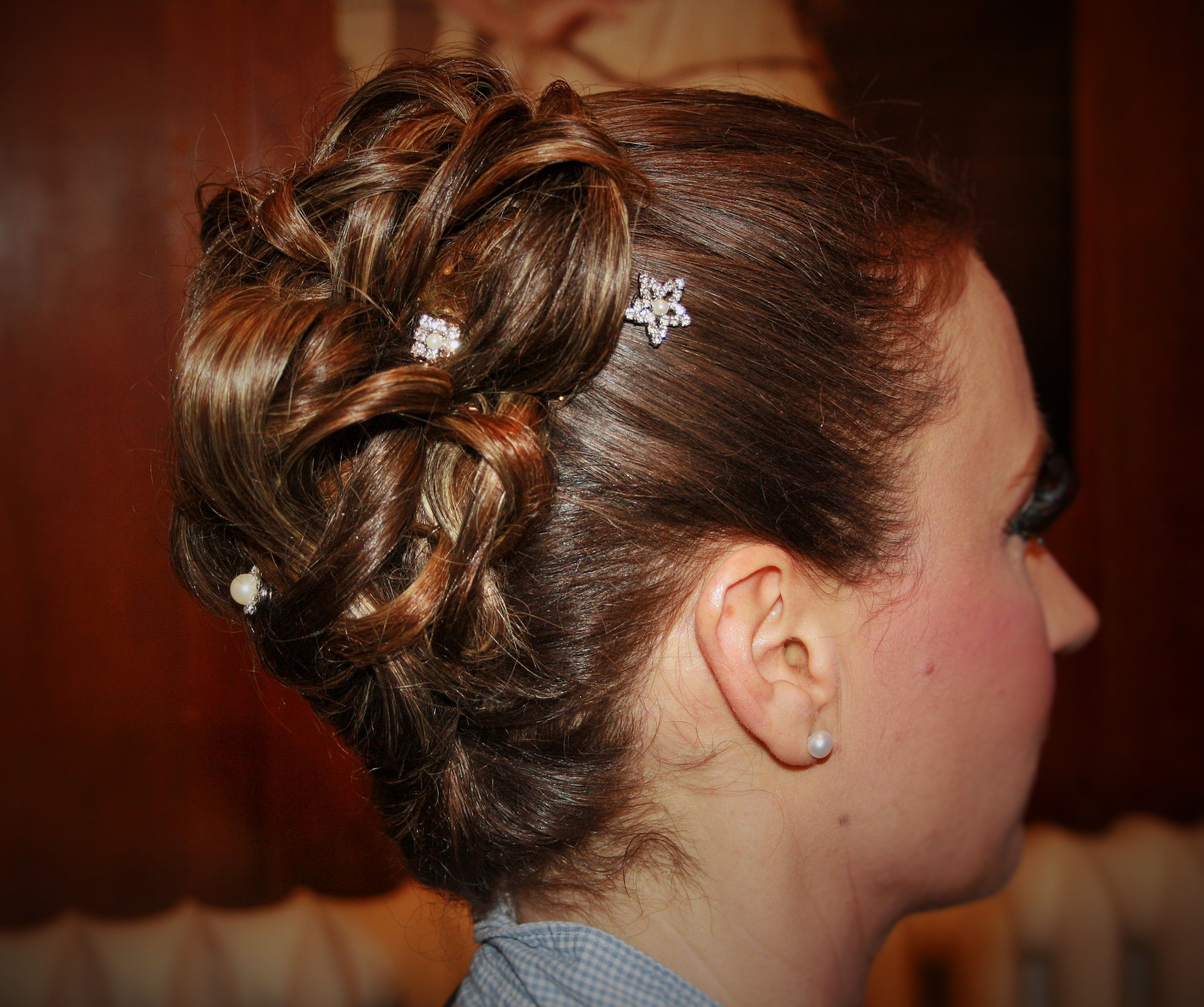 Wedding Hair Up With Diamante Clips By Www Kukispa In York