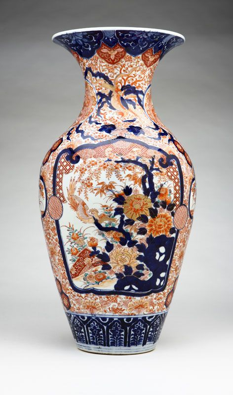 Lot 1030 A Large Japanese Imari Porcelain Vase Est 500 700 Price Realized 840 00 Imari Porcelain Antique Vase Vase