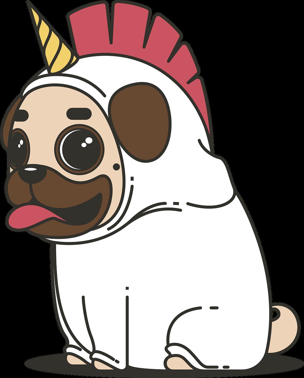 Free Image on Pixabay - Pug, Unicorn, Dog, Animal, Puppy ...