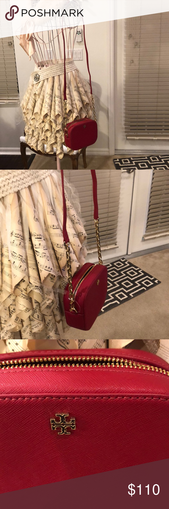 a6ec4387814 Purse Tory Burch Emerson round crossbody bag. Sturdy kir royal saffiano  leather with gold hardware. MEASUREMENTS ARE APPROXIMATE NO TRADES PRICE IS  FIRM ...