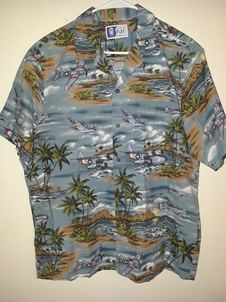 Styled By RJC LTD Airforce Hawaiian Shirt (L) Made in