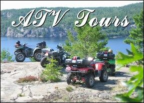 ATV ' ing at it 's best. Birch Lodge Blind River.