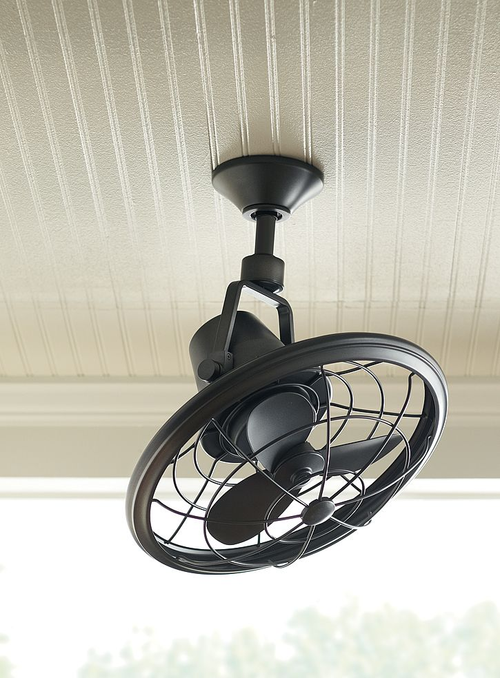 Decorative Wall Mounted Fans the tarnished bronze finish and classic cage design creates a