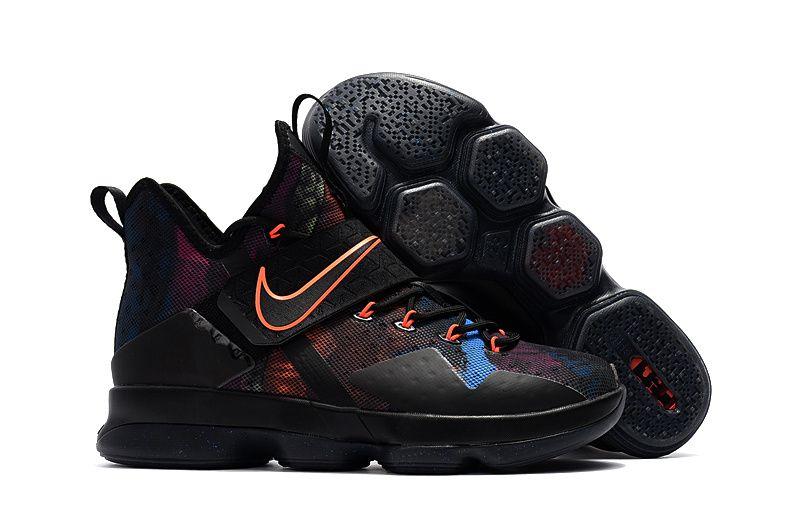 Cheap Nike LeBron 14 Basketball Shoes Black Colorful on www.nbakobe12.com