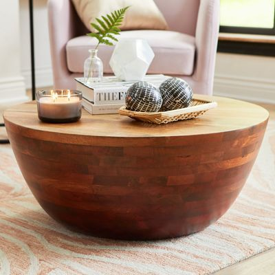 Avani Coffee Table In 2020 Drum Coffee Table Round