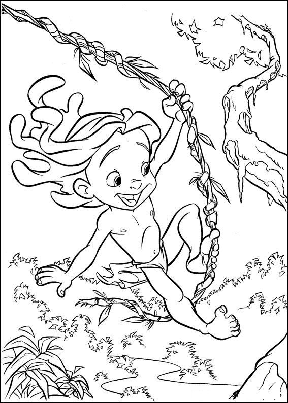 Http Www Kids N Fun De Kleurplaatjes Tarzan Tarzan 52 Jpg Cartoon Coloring Pages Disney Coloring Pages Coloring Pages