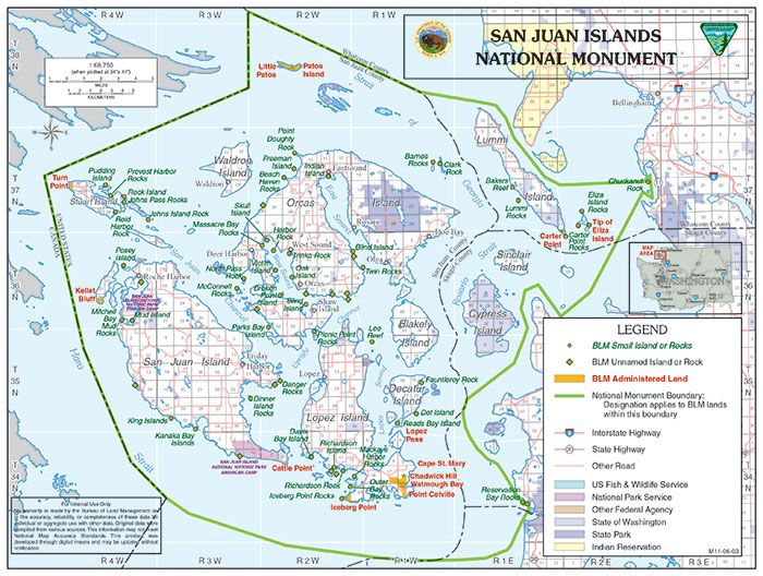 Click to view full size San Juan map | PNW Bucket List | San juan