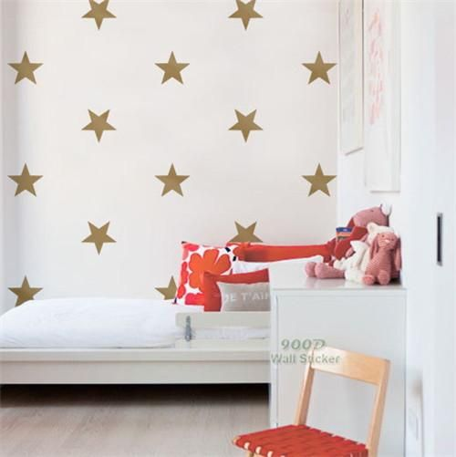 Star Stickers Removable Star Wall Decals Gold Wall Art