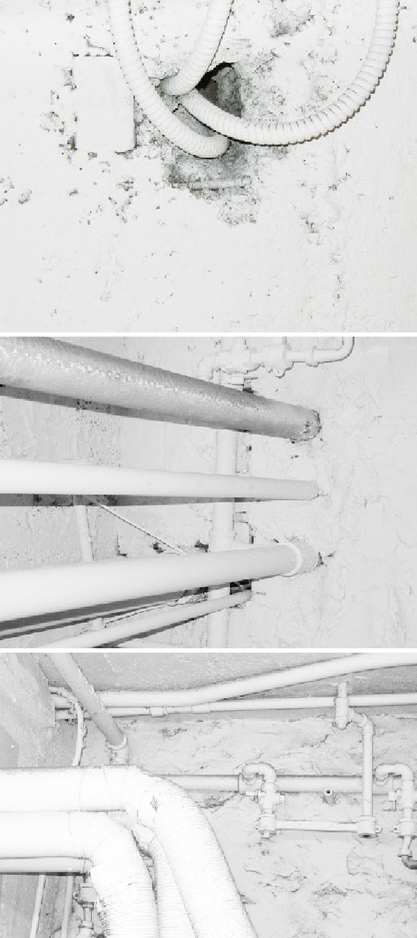 White on white by Herta. Shots of white pipes on white walls on 181st St in NYC.