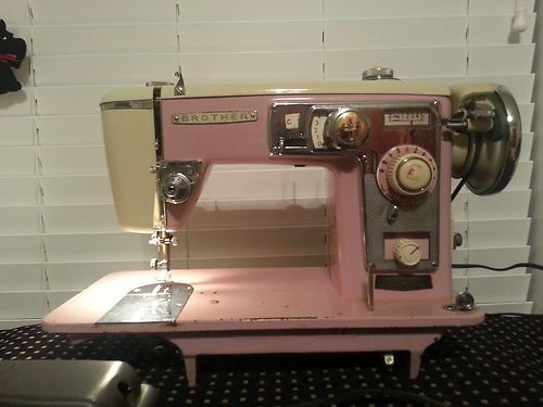 Pink Vintage Brother Sewing Machine Model 210 Selectomatic Iv No Reserve Ebay